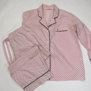 Victoria's Secret Pink/Black PJ's L